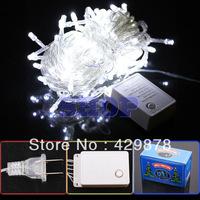 10m White 110V 100 LED 8-Modes String 110V Light Wedding Party Chrismas Lamp Decoration US 110V led lamps led bulb