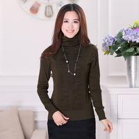 2013 autumn and winter women new arrival thin sweater wool long-sleeve basic shirt heap turtleneck sweater