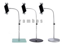 10pcs/lot 360 Degree Rotatable Tablet Floor Stand Mount Holder for ipad 2 3 4, fedex free ship