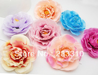 "10pcs 3.5"" Blooming Flower Brooch Pins Hair Clips Accessory Fabric Silky Boutique Wholesale Lot"