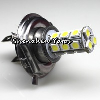 Hot sale 10Pcs H7 5050 SMD 18LED Fog Headlight Lamp Bulbs Xenon White Lights DC 12V