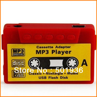 Fashion mini mp3 music player cassette adapter slim mp3 player Free shipping (10 pieces/lot)