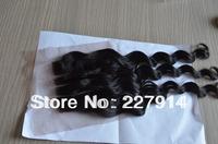 blreached knotsHotsale stock 3 way part closure,hair piece,brazilian virgin hair loose wave, 4X4inch density 120%, natural color