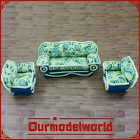 1 sets 1:30 scale model sofa for model layout and dolls house