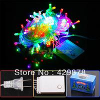 10m 100 LED White  Multicolour  Warm White 8-Modes String Light Party Chrismas Lamp Decoration US 110V led lamps led bulb