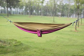 Parachute cloth double hammock lovers casual outdoor swing casual hammock
