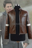 War of the Worlds Tom Cruise Brown Pleather Jacket