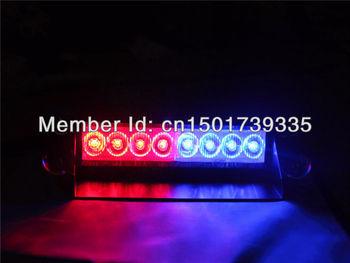 Red&Blue Windshields 18LED Strobe Emergency Flashing Warning Light for 12V Car