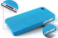 Free Shipping! 1PC Lovely Sky Blue Cell Plastic Back Case Cover Skin for Apple iPhone 4