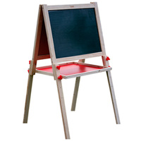Small basin child drawing board easel set writing board can lift double faced magnetic blackboard mount type Large