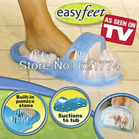 New Reliable Easyfeet Easy Feet Foot Scrubber Brush Massager Clean Slippers Bathroom Foot Care Tool Gift Free Shipping