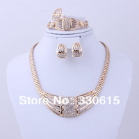 China Gold Plated Jewelry / Fashion Bracelet Women 2013 Free Shipping jewelry Sets /Popular Jewelry Set