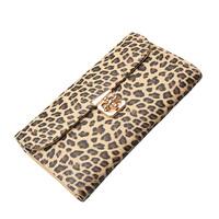 Fashion Top Quality  Leopard Print Day Clutch Bag Women Chian Shoulder Bag Skull Messenger Bag Women Wallet