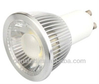 Free shipping Non-dimmable 5W GU10 COB LED lamp light bulb led Spotlight White/Warm white