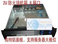 2u firewall computer case 8 ethernet port aluminum panel ros computer case large-panel server computer case