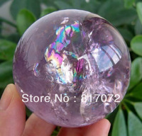 Hot Christmas NATURAL amethyst ball healing ball 55mm +stand
