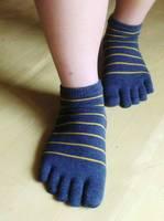 Free shipping 6pairs/lot single 5 stripe five fingers socks 5 toe socks  short thin cotton socks male plus size