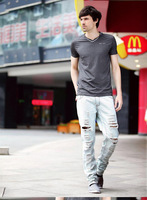 etail & Wholesale Hot Men's jeans Holiday Sale Free Shipping 2013 Famous Men Brand Jeans Straight Casual Denim Jeans size 28-42