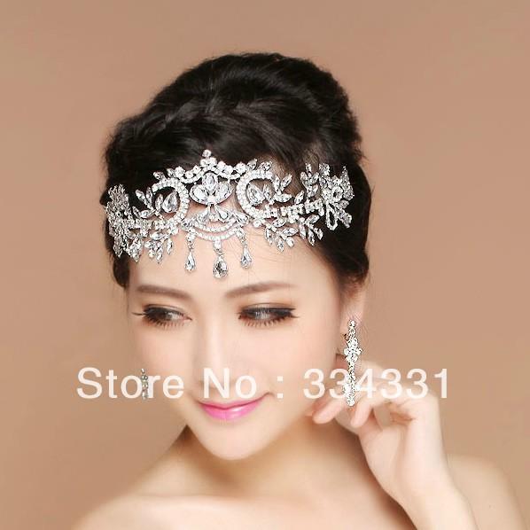 Luxury Handmade Bridal Crystal Crown Wedding Tiara Jewelry ...