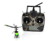 F05353 New WL V955 Mini Remote Control 2.4GHz 4CH Flybarless RC Helicopter Toy LCD Gyro RTF