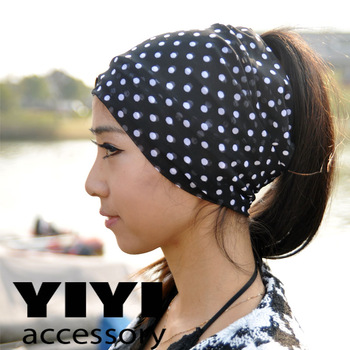 Hair Jewelry Spring and summer gauze ultra wide knitted headband Headwear fashion trend street casual