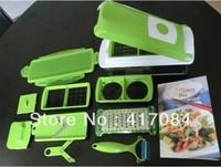 NEW 2013 novelty homeholds Nicer Dicer Plus Multi-function Vegetable Fruit Chopper wholesale 24pcs/lot Free Shipping