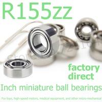 20PCS R155ZZ bearing RI-5532ZZ,X5/32ZZ,RA155ZZA,3967-2Z   3.967*7.938*3.175mm Inch miniature shielded deep groove ball bearing