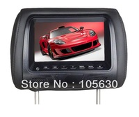 One pair of 7 inch Taxi Headrest Advertising Player with pillow  three color Car Monitor  two pieces