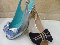 2013 cloth blue summer crystal belt bow all-match leather open toe sandals four seasons 3632 - 5