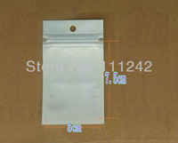 7.5*5cm clear + white Pearl retail packing plastic bag pack  package bag poly opp pe packaging bag