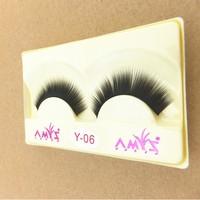 Promotion 10 Pairs Of Reusable Natural and Regular Long Black Dense False Eyelashes Artificial Fake Eyelashes Free Shipping