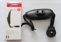 Soft black leather camera strap / hand mobility for Canon SLR / DSLR