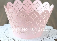 Laser cutting cupcake wrappers,#cw010, wedding favors,wedding decoration, free shipping