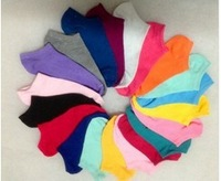 10 Pairs=20pcs/lot Women Socks,Fluorescence Cotton Sock,Candy Color Boat Short Socks
