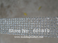 "8 Rows 1"" Wide Diamond Trim with Stones SS9.5 Real Rhinestone Crystal Bling trim FOR Wedding Cake Banding Trim Wedding Vase"