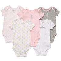 Carters infant summer one piece romper short-sleeve romper 5 piece set