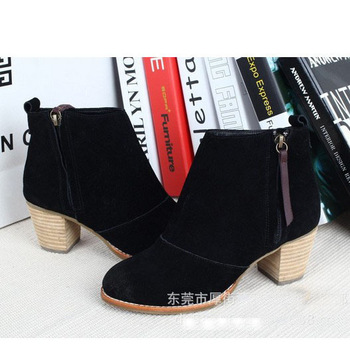 BUENO 2013 hot sale fashion motorcycle ankle boots women's warm knight boot vintage shoes wholesale HM258