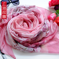 5a mulberry silk scarf ultralarge design long silk scarf female cape