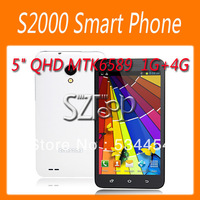 free shipping for S2000 MTK6589 Quad Core Android 4.2 Smart Phone 5.0 Inch QHD Screen 1GB 4GB Dual Cameras GPS Bluetooth