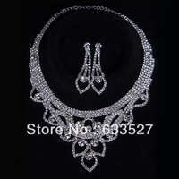 Free Shipping Wholesale Wedding Jewelry Set Bridal Brand YAHE Necklace Women Fashion Jewlery Bridal Shoulder Necklace setWN10043