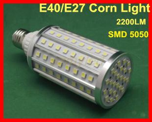 led corn light e40 bulbs garden spot lamps smd 5050 1800-2200lm 22w white/ warm white colors ac85-265v aluminum alloy,Fedex Free