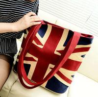New women  fashion lovely UK flag canvas shoulder bag bolsa vintage handbag bolsos de tela sacs saco borsa free shipping