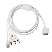 Multi-function High Quality 1.8M USB TV RCA Video Composite  AV Cable for Apple iPad/ iPhone/ iPod Series by freeshipping
