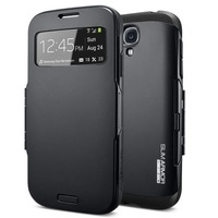 30pcs/lot Newest SPIGEN SGP Slim Armor View Automatic Sleep/Wake Flip Cover leather case for Samsung galaxy s4 I9500