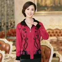 2013 autumn women's casual sweater quinquagenarian sweater