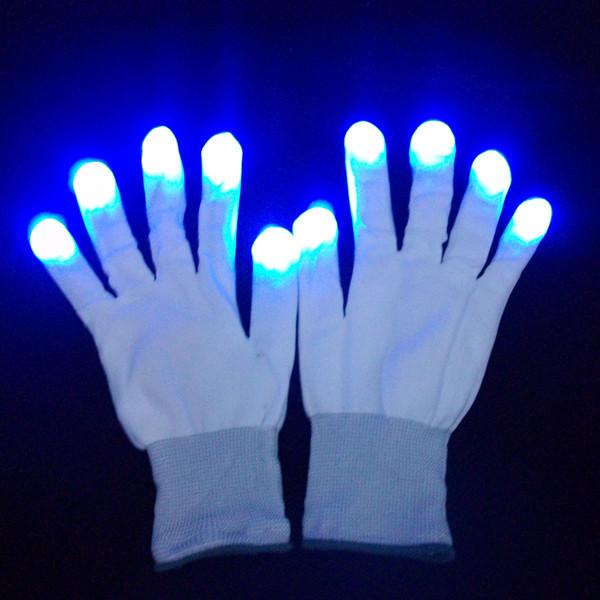 Novelty Fashion Christmas LED Flashing Gloves Flash Finger Light Glove Halloween Party Show Decoration(China (Mainland))