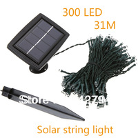 Solar power led string light 31m 300leds lighting garden light outdoor solar panel light christmas holiday decoration lamp