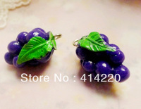 New arrival Free shipping  Resin grape Pendants for Necklace/Mobilephone Decoration/DIY Jewelry  by 100pcs/lot
