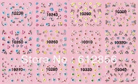 12 styles nail sticker & Decals NAIL ART French design individual package rhinestones sticker nail jewelry