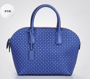 New Women Luxury designer handbag 2013 Fashion Tote Shoulder Messenger Bags With Blue Genuine Leather handbags famous brand tote
